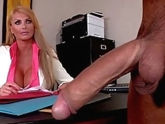 moden blonde handjob stor kuk kontor ridning