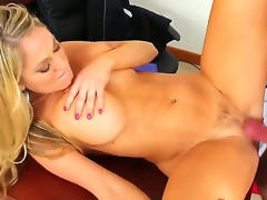 Alec Knight makes his rock solid schlong vanish in sexy bodied Amber Ashlees juicy spot