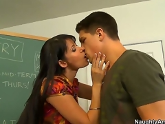 Eva Karera is a very luscious MILF chick and she knows that youthful males need to learn. She teaches her youthful student Bruce Venture, sucking him off and offering up her milf snatch for him to bang.