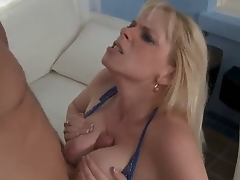 Cameron Keys met his sons friend Levi and saw his cock by accident. So like all naughty sluts she decided to taste it immediately. Levi didnt matter at all. Lucky guy, he is totally happy