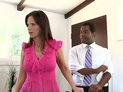 Irv, Jeremy Conway, Syren De Mer and Tyler Knight are participating in a bit softcore scene in the office that threatens to go very wild and heavy.