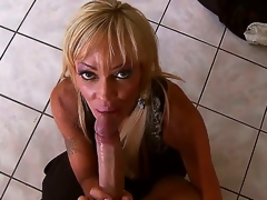 Enjoyable blond slut Houston sucks Keiran Lees huge pecker and gets it deep in her cock craving cunt after that and it looks truly breathtaking.