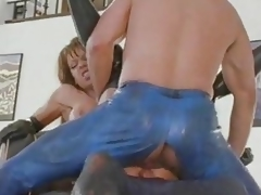 British MILF Nici Stirling gets DP in boots