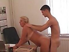 amatør lady kontor gammel og ung russisk