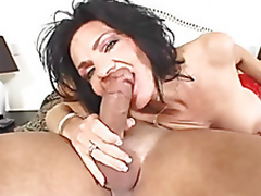 breasty granny in anal action