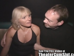 Milf Jackie Gangbanged in Transmitted to Porno Theater